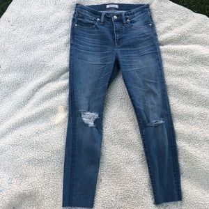 "Madewell 9"" High Rise Skinny Crop Size 28"